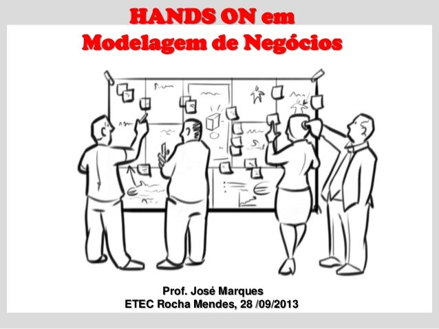 HANDS ON em Modelagem de Negócios Prof. José Marques ETEC Rocha Mendes, 28 /09/2013