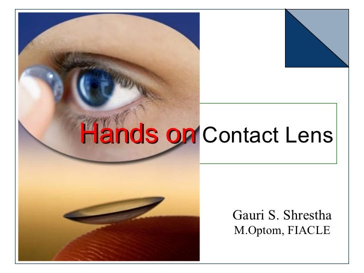 Hands on contact lens