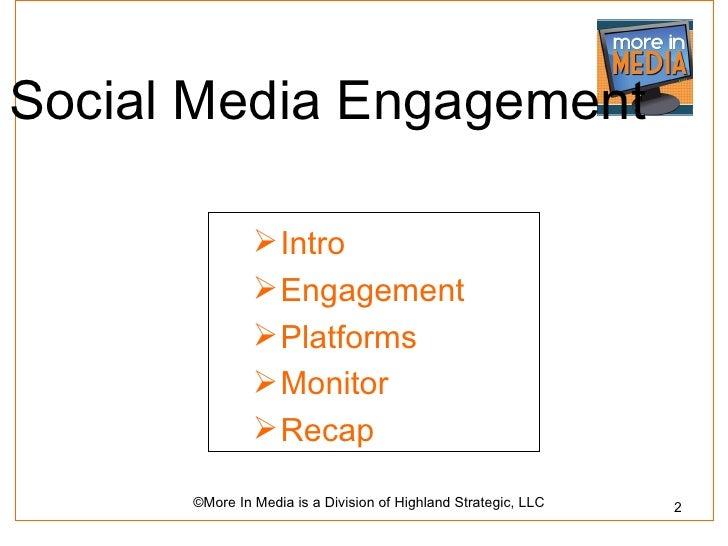 Social Media Engagement                Intro                Engagement                Platforms                Monitor...