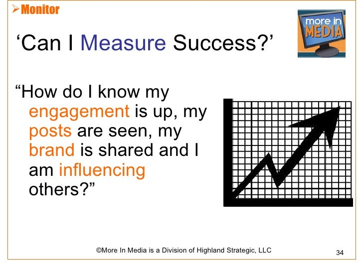 """Monitor'Can I Measure Success?'""""How do I know my  engagement is up, my  posts are seen, my  brand is shared and I  am inf..."""