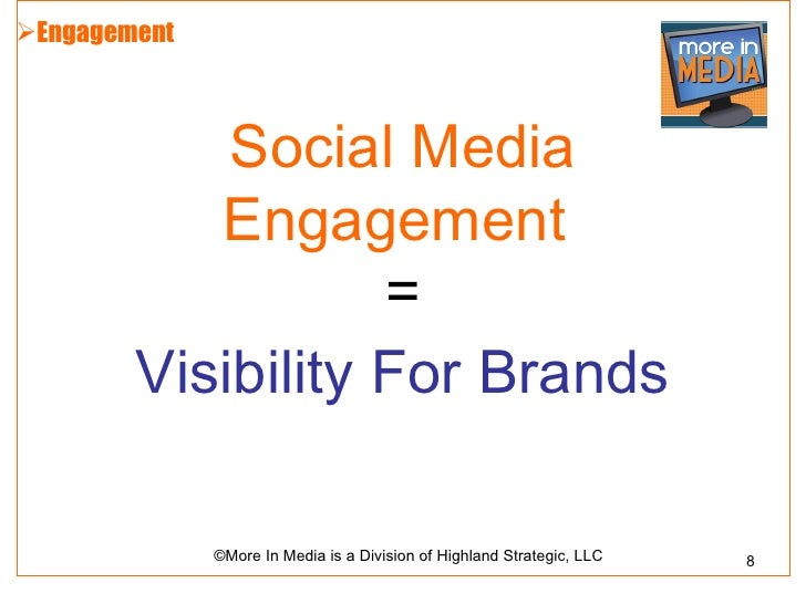 Engagement            Social Media           Engagement                   =        Visibility For Brands              ©Mo...