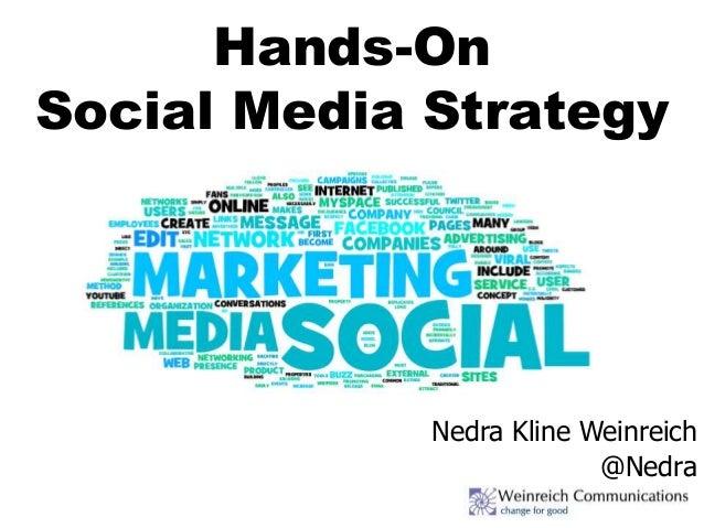 Hands-On Social Media Strategy Nedra Kline Weinreich @Nedra
