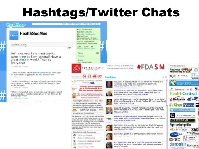 Hashtags/Twitter Chats