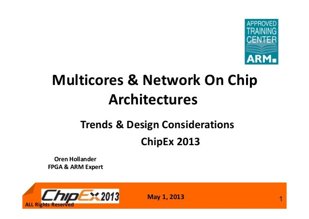 May 1, 2013 1Trends & Design ConsiderationsChipEx 2013Multicores & Network On ChipArchitecturesALL Rights ReservedOren Hol...