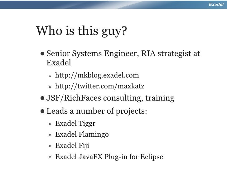 Hands On With Rich Faces 4 - JavaOne 2010 Slide 2