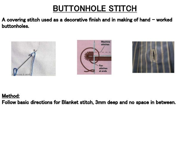 Basic Hand stitches used for Embroideries