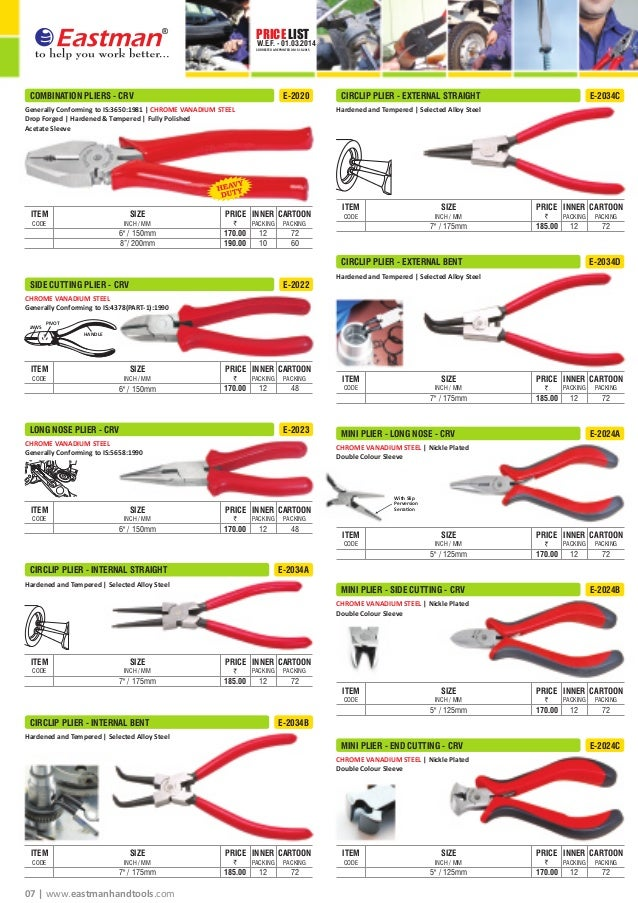 eastman hand tools price list 20158 price list