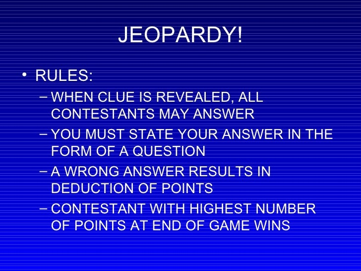 Handwashing Jeopardy Game