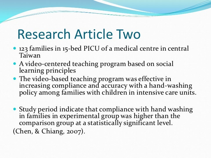 research proposal articles