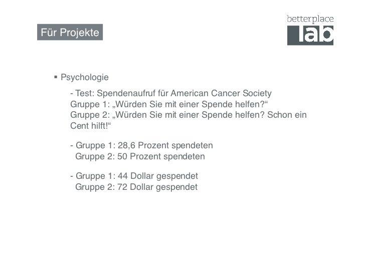 """Für Projekte!   Psychologie !     !- Test: Spendenaufruf für American Cancer Society      !Gruppe 1: """"Würden Sie mit ei..."""