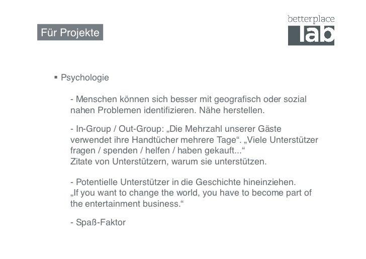 Für Projekte!   Psychologie     !- Menschen können sich besser mit geografisch oder sozial     !nahen Problemen identifiz...
