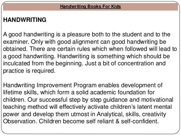 good handwriting books