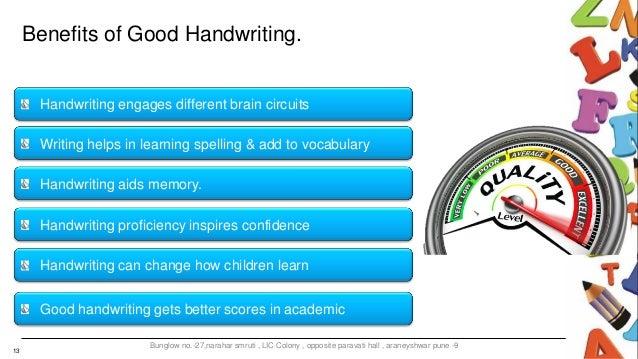 Advantages of good handwriting