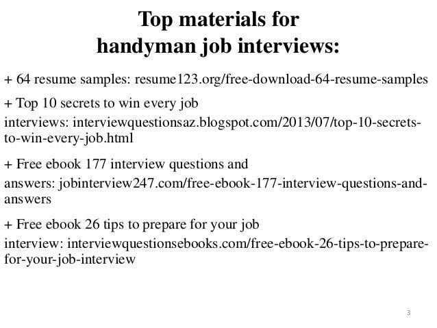 handyman resume sample pdf ebook free download