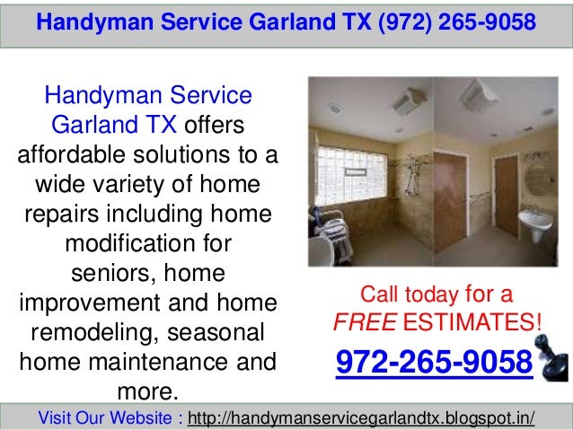 Handyman Service Garland TX (972) 265-9058 Call today for a FREE ESTIMATES! 972-265-9058 Visit Our Website : http://handym...