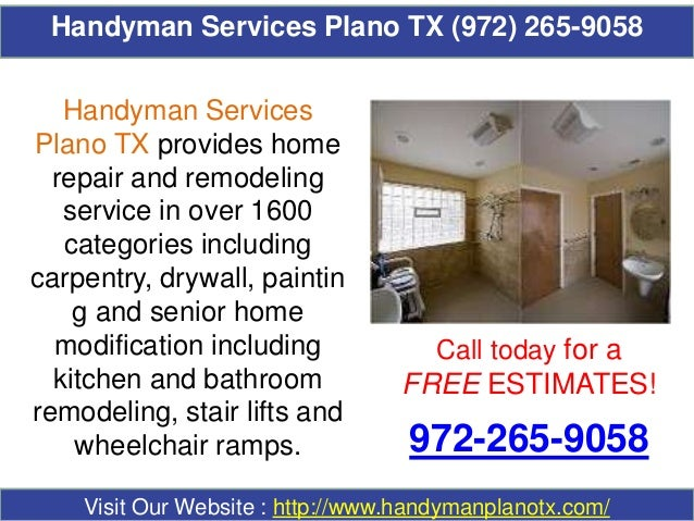 Handyman Services Plano TX (972) 265-9058 Call today for a FREE ESTIMATES! 972-265-9058 Visit Our Website : http://www.han...