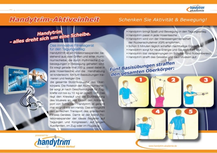 Rahmenprogramm für Tagungen und Kongresse >> mit der Handytrim-Akademie Methode