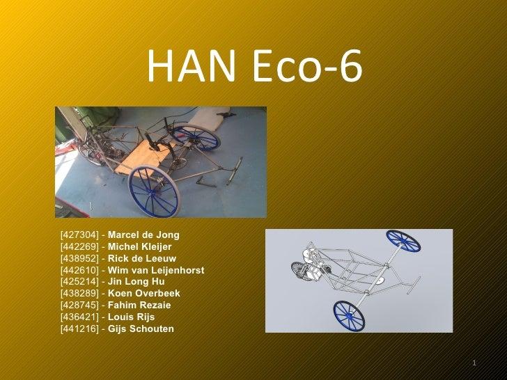 HAN Eco-6 [427304] -  Marcel de Jong [442269] -  Michel Kleijer [438952] -  Rick de Leeuw [442610] -  Wim van Leijenhorst ...