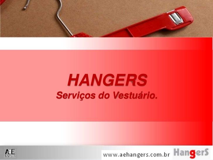 HANGERSServiços do Vestuário.