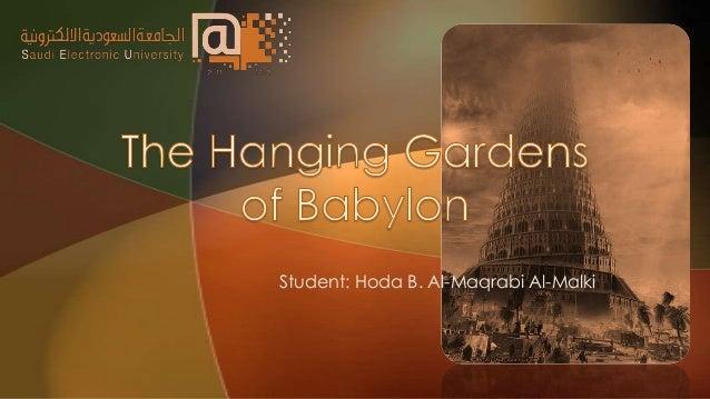 Student: Hoda B. Al-Maqrabi Al-Malki