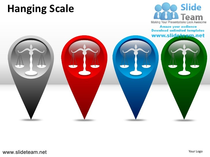 Hanging scale gray powerpoint ppt templates. - 웹