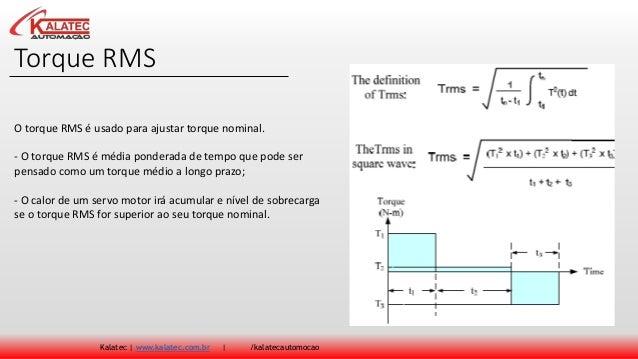 Torque RMS Kalatec | www.kalatec.com.br | /kalatecautomocao O torque RMS é usado para ajustar torque nominal. - O torque R...