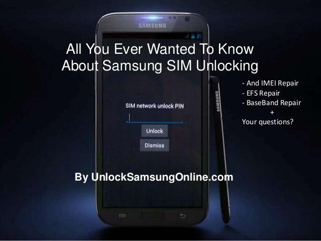 Unlock Samsung Information presentation