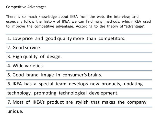 porter diamond ikea Michael porter to finish this  as the topics of this thesis are competitive advantage of ikea and ikea in  what is the competitive advantage of ikea b,.