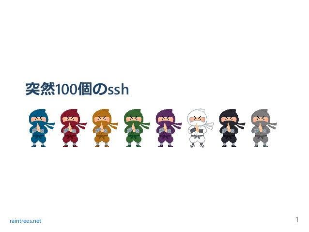 突然100個のssh raintrees.net 1