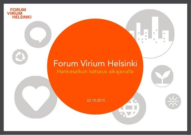 Forum Virium Helsinki Hankesalkun katsaus aikajanalla  22.10.2015