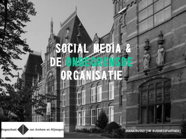 SOCIAL MEDIA & DE ONBEGRENSDE ORGANISATIE DIANA RUSSO [HR BUSINESSPARTNER]