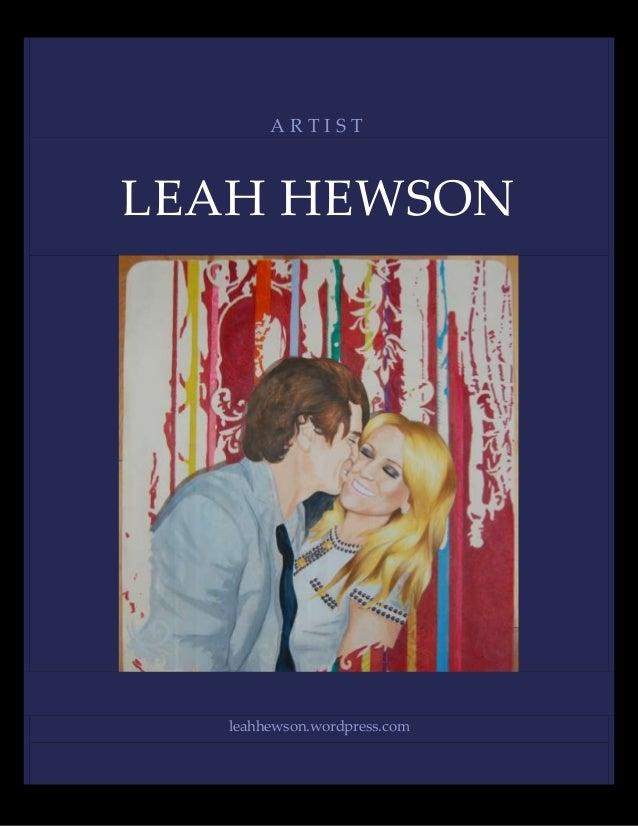 ARTISTLEAH HEWSON  leahhewson.wordpress.com
