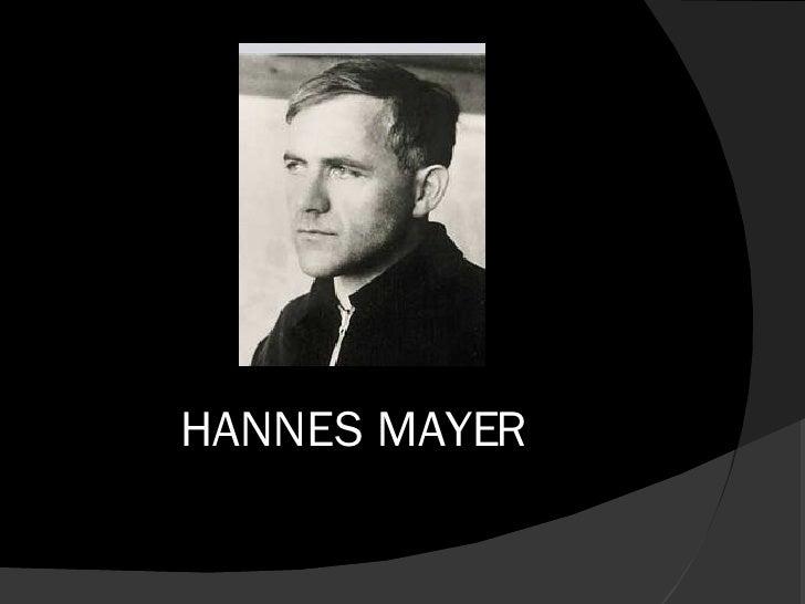 HANNES MAYER