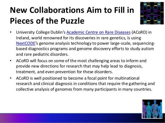 New Collaborations Aim to Fill in  Pieces of the Puzzle  • University College Dublin's Academic Centre on Rare Diseases (A...