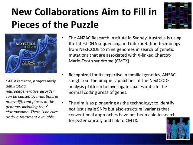 New Collaborations Aim to Fill in  Pieces of the Puzzle  • The ANZAC Research Institute in Sydney, Australia is using  the...