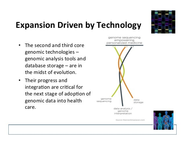 Expansion  Driven  by  Technology   • The  second  and  third  core   genomic  technologies  –   ...