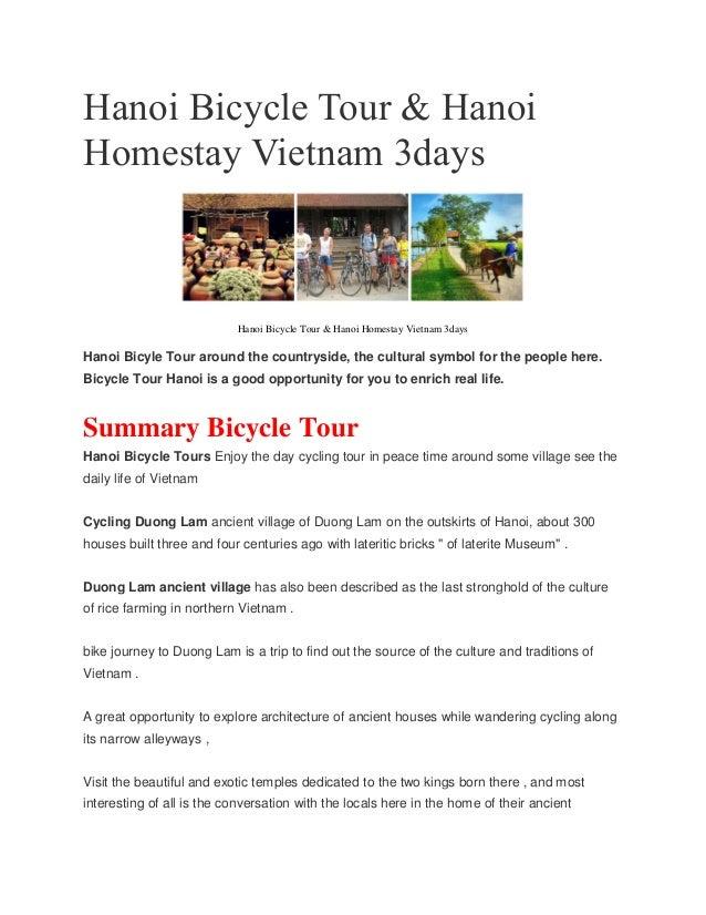 Hanoi Bicycle Tour & Hanoi Homestay Vietnam 3days Hanoi Bicycle Tour & Hanoi Homestay Vietnam 3days Hanoi Bicyle Tour arou...