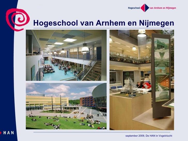 Hogeschool van Arnhem en Nijmegen september 2009, De HAN in Vogelvlucht
