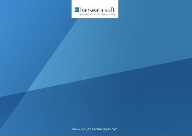 Cloud Fleet Manager by Hanseaticsoft Product Portfolio
