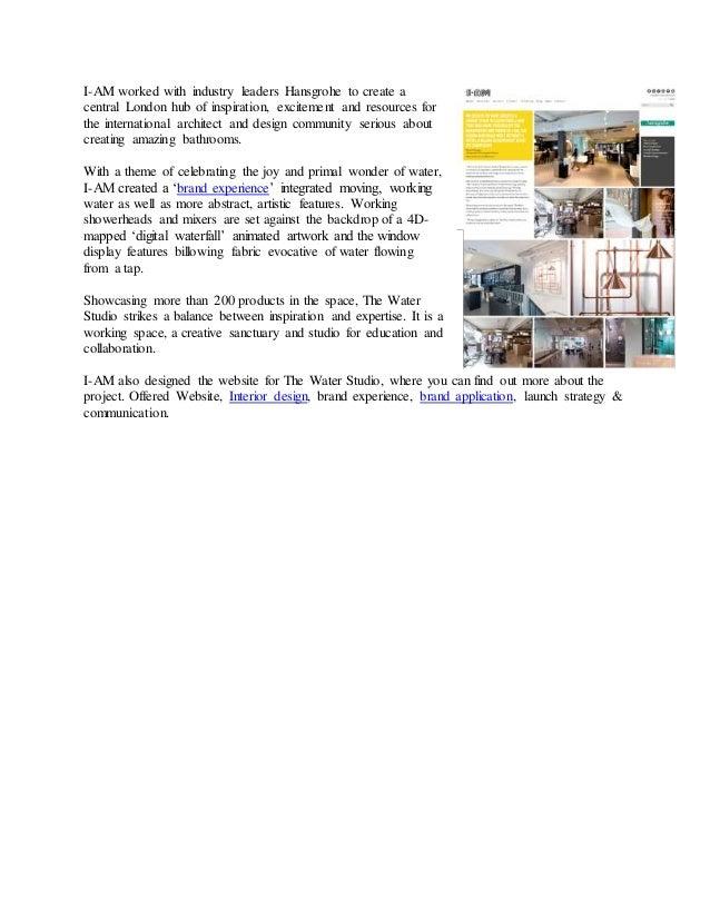 Hansgrohe brand application, interior & website design