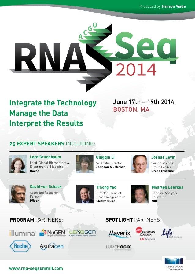 June 17th – 19th 2014 BOSTON, MA 25 EXPERT SPEAKERS INCLUDING: Lore Gruenbaum Lead, Global Biomarkers & Experimental Medic...
