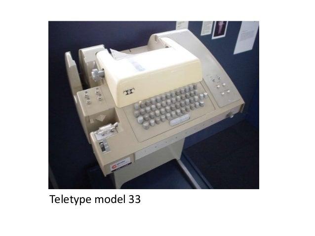 Het @ teken op Teletype model 33