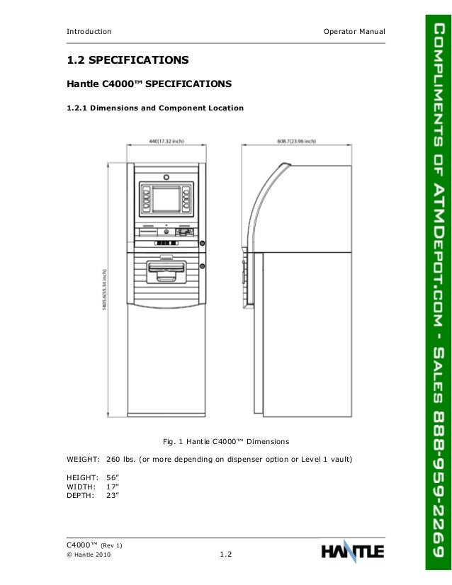 Hantle c4000-atm-owners-manual