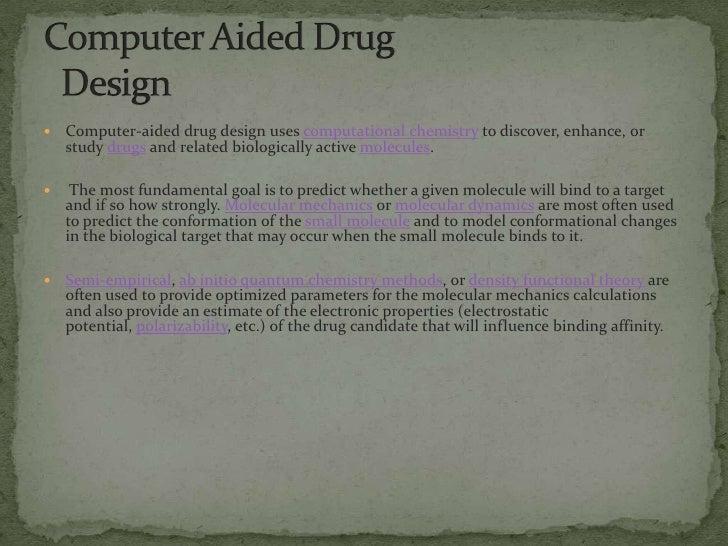 Computer Aided Drug Design Ppt
