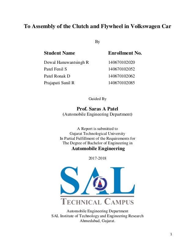 gtu dissertation phase 1 schedule