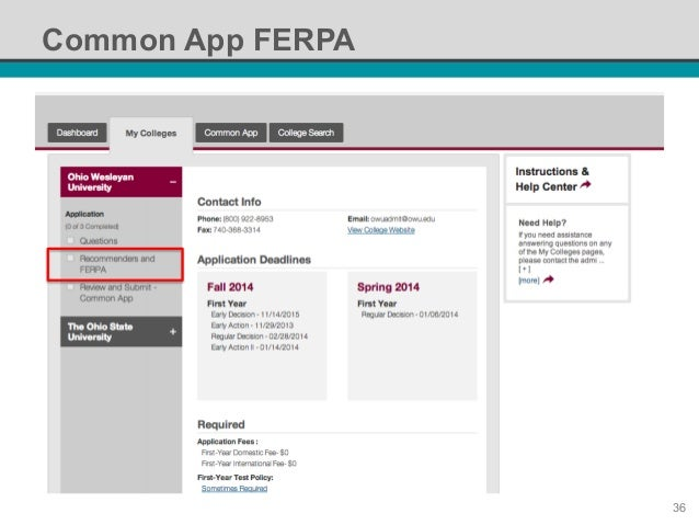 match common app and naviance