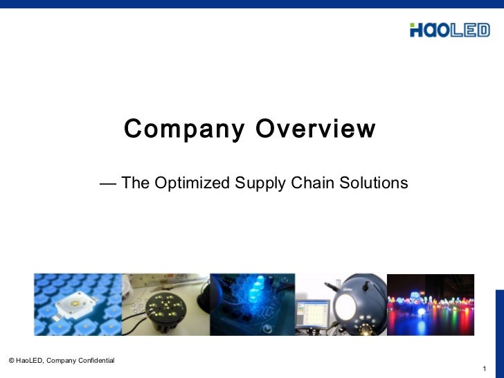 Company Overview     — The Optimized Supply Chain Solutions