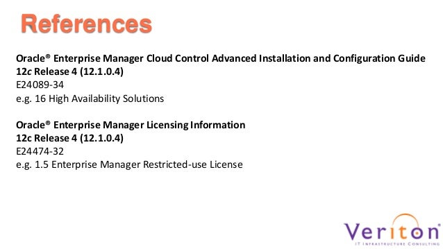 High Availability Options for Oracle Enterprise Manager 12c Cloud Con…