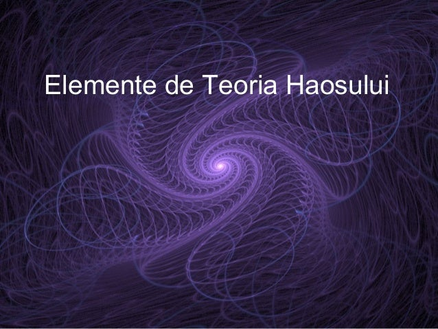 Elemente de Teoria Haosului