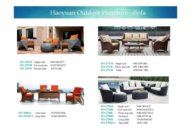 Haoyuan Outdoor Furniture Hot Sell Products Catalog